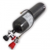 6.8L 300bar carbon fiber cylinder with gauged valve with filling station
