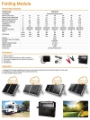 Mono solar panel, 240W Folding Solar Panel with pwm charge controller